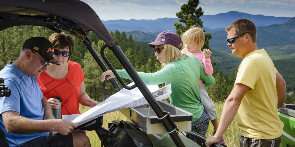 ATV riding in the Black Hills