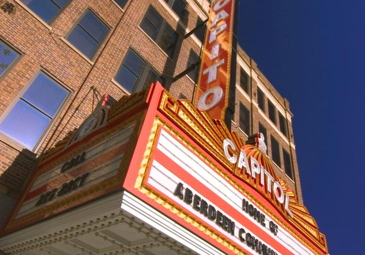 Capitol Theatre in downtown Aberdeen, SD